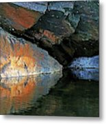 Shawanaga Rock And Reflections Xi Metal Print