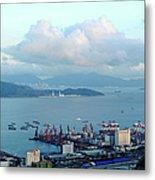 Shenzhen Bay And Shekou Port Metal Print