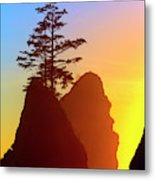 Shi Shi Sea Stacks Metal Print