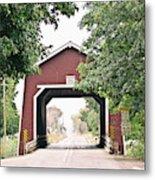 Shimanek Covered Bridge Metal Print