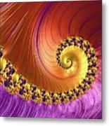 Shiny Purple And Gold Spiral Metal Print