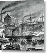 Shipyards And Shipping On The Clyde Metal Print