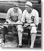 Shoeless Joe Jackson And Babe Ruth Metal Print