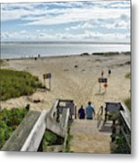 Shoreline Staircase By Uscg Station Chatham Cape Cod Massachusetts Metal Print