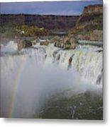 Shoshone Falls Rainbow Metal Print