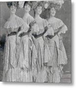 Showgirls Wearing Typical Stage Attire Metal Print