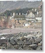 Sidmouth Sea Front Metal Print