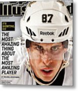 Sidney Crosby Its Showtime, Kid Sports Illustrated Cover Metal Print