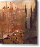 Siege Of A Castle 1910 Metal Print