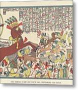 Siege Of Dapur By Ramesses II 1269 Bc Metal Print