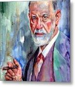 Sigmund Freud Portrait II Metal Print