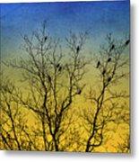 Silhouette Birds Sequel Metal Print