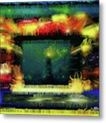 Silk-featherbrush Number 4 - All-night Vigil At The Lighthouse Blues Club Metal Print