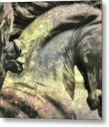 Silver And Gold  Art Metal Print