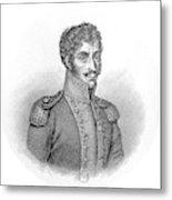 Simon Bolivar Venezuelan Statesman, Soldier, And Revolutionary Leader Metal Print