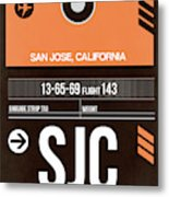 Sjc San Jose Luggage Tag II Metal Print