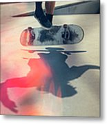 Skateboarder Doing An Ollie Metal Print