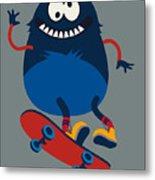 Skater Monster Victor Design For Kids Metal Print