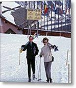 Skiers At St. Moritz Metal Print