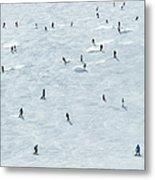 Skiing In Mayrhofen Austria Metal Print