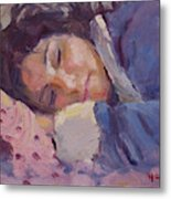 Sleeping Lady Metal Print