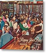 Sloppy Joes Bar, Havana, Cuba, 1951 Metal Print