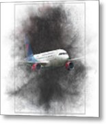Slovak Government Flying Service Airbus A319-115 Painting Metal Print