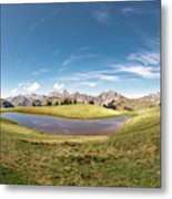 Small Lake In The Mountains Metal Print