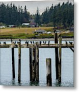 Small Village Along The Columbia River Metal Print