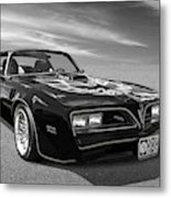 Smokey And The Bandit Trans Am In Mono Metal Print
