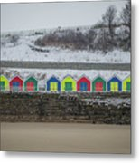 Snow At Barry Island Metal Print