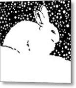 Snow Bunny Rabbit Holiday Winter Metal Print