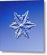 Snowflake On Blue Background Metal Print