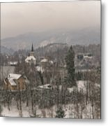 Snowy Bled In Slovenia Metal Print