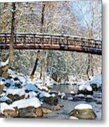 Snowy Bridge Metal Print