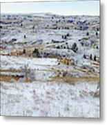 Snowy Slope County Metal Print
