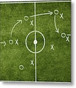 Soccer Strategy Metal Print