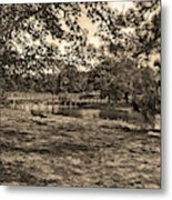 Solitude In Black And White With Sepia Tones Metal Print