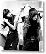Sonny & Cher Portrait Session Metal Print