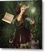 Sorceress And Magic Metal Print