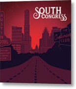 South Congress Avenue Metal Print