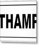 Southampton City Nameplate Metal Print