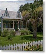 Southern Coastal Tin Roof Cottage Metal Print