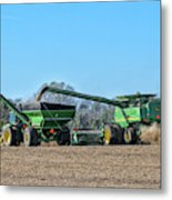 Soybean Harvest Max Metal Print