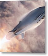 Spacex Bfr Epic Launch Metal Print