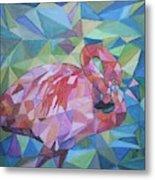 Sparkling Flamingo Metal Print
