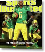 Speed Wins Oregons Deanthony Thomas, The Fastest Man In Sports Illustrated Cover Metal Print
