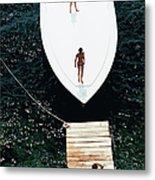 Speedboat Landing Metal Print