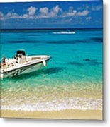 Speedboat Moored At Conroy Beach Metal Print