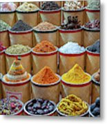 Spices Market In Dubai Metal Print
